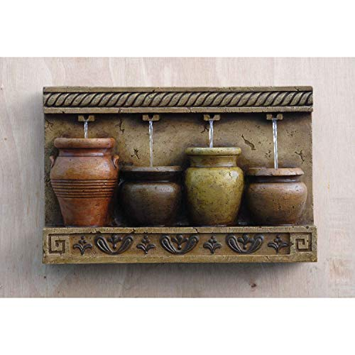 Jur_Global Colorful Pots Wall Water Fountain