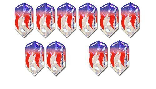 Wagner Automaten Dart Flights Sparpreis% Made by Empire®Dart (10 Sets (30 Stück), Flight WA Metallic Slim)
