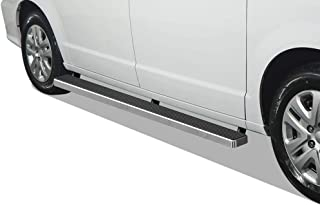 APS iBoard Running Boards 5 inches Custom Fit 2011-2020 Dodge Grand Caravan & 2011-2016 Chrysler Town Country (Nerf Bars Side Steps Side Bars)