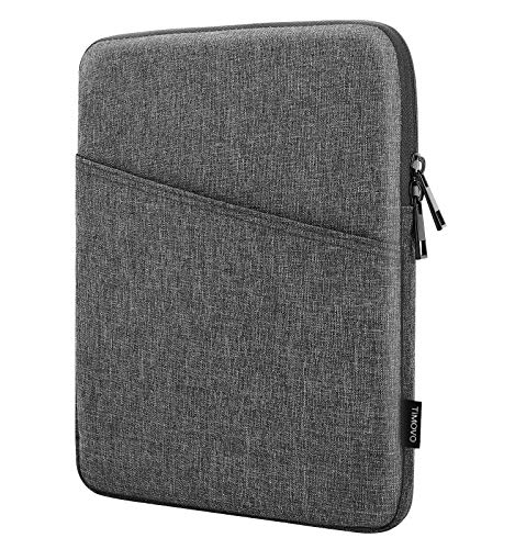 TiMOVO 9-11 Inch Tablet Sleeve Case Compatible with 2020 iPad Air 4 10.9, iPad Pro 11 2018-2021, iPad 10.2, Galaxy Tab A7 10.4, S6 Lite 2020, Surface Go 2/1, Pocket Bag Fit Smart Keyboard, Dark Gray