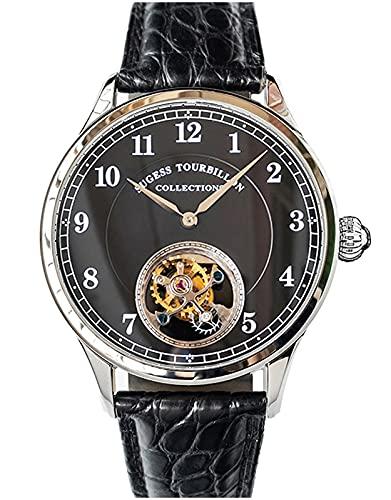 SU8000SB Tourbillon Master Gaviota ST8000 Movimiento Zafiro Cristal Reloj Mecánico para Hombre 1963