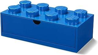 Room Copenhagen 40211731 Lego Boîte de Rangement empilable 8 Boutons Bleu Taille, Grand