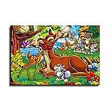FINDEMO Klopfer und Bambi Poster, dekoratives Gemälde,