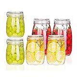LTCTL Frascos De Vidrio Hermético para Almacenamiento De Alimentos con Tapa De Clip, Juego De Botes Transparentes De 6 Piezas (Color : 6 Piece Canister Set)