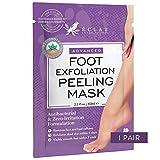 𝗘𝗫𝗙𝗢𝗟𝗜𝗔𝗡𝗧𝗘 𝗚𝗔𝗡𝗔𝗗𝗢𝗥 𝟬𝟴/𝟮𝟬* mascarilla de peeling para pies de bebé suaves - x8 más potente para callosidades y piel muerta/seca - repara los tacones secos en 5 días