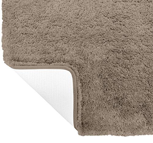 Gorilla Grip Original Premium Luxury Bath Rug, 30x20 Inch, Incredibly Soft, Thick, Absorbent Bathroom Mat Rugs, Machine Wash and Dry, Plush Carpet Mats for Bath Room, Shower, Hot Tub, Spa, Beige