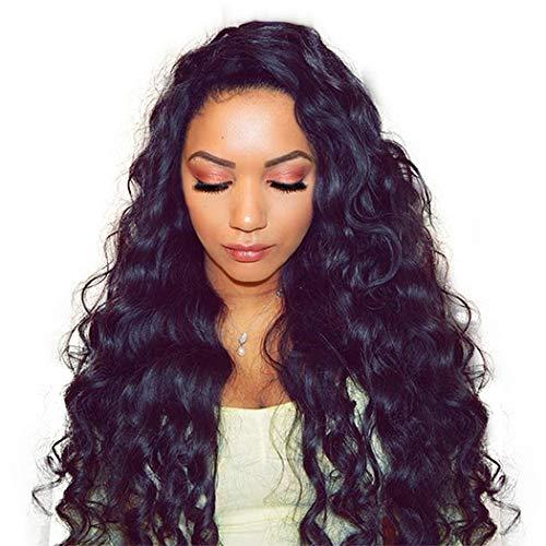 Pelucas de cabello humano Dolago 250% de densidad con encaje frontal para mujeres negras, pelucas de encaje frontal de cabello virgen brasileño premium con nudos blanqueados previamente pegados con pelo de bebé, pelucas de cabello humano sin pegamento de encaje completo, Loose Wave, 22inch