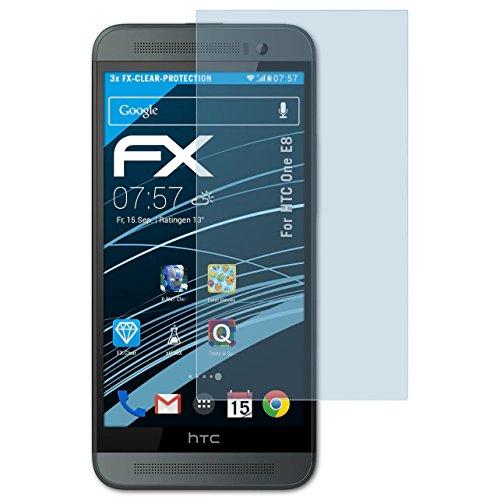 atFolix Schutzfolie kompatibel mit HTC One E8 Folie, ultraklare FX Bildschirmschutzfolie (3X)