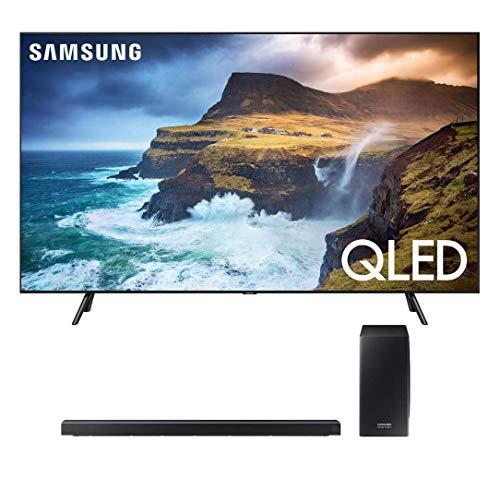 "Samsung QN55Q70RA 55"" Q70 QLED Smart 4K UHD TV (2019 Model) with 30W 3.1.2-Channel Soundbar System with Wireless Subwoofer - (HW-Q70R)"