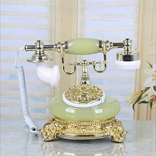 LDDZB Dial giratorio de metal/teléfono antiguo europeo/teléfono fijo retro fijo/tono mecánico (color: A) (color: C) (color: B)