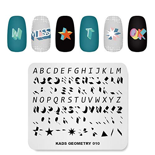 Plaque à emboutir Fashion Geometry Dots Points Abstraits Points Thème Motif Multi-Motifs Imprimer Image Modèle de Tampon Nail Art pour Nail Design