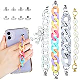 4 Pieces Phone Case Chain Beaded Secure Mobile Phone Finger Starp Drop Resistance Phone Grip Holder for DIY Phone Case Accessory