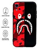 Kplvet iPhone XR Case,Ultra Soft Embossed Craft Durable Non Faded Anti Scratch Slim Thin iPhone-Cover for 6.1 iPhone-XR,Street Fashion Basic Protective Phone-Cover (Red Black ShaYu)