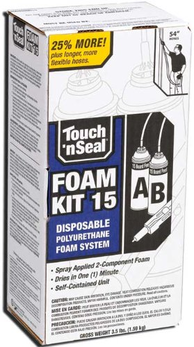 Touch N Seal 4004520015 U2-15 Spray Closed Cell DIY Foam Insulation Kit 15 BF