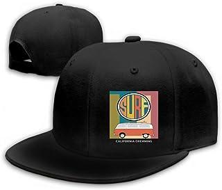 Xunulyn Unisex Baseball Caps Adjustable Plain Dad Hat Sun Cap Set California Surf Typography Format eps Black