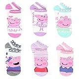 Peppa Pig Toddler Socks 6 pairs (Shoe Size 4-7)