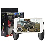 ssms 5 in 1 Pubg Mobile Gamepad|5IN1 Game Controller Shooter Gaming Button Handle Stent Trigger L1 R1 Fire Shooter Buttons 2 Joystick +2 Trigger+1 Gamepad 5-in-1 for Android Smartphones.