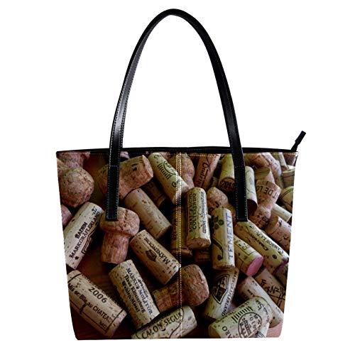LORVIES - Tapones de vino, bolso bandolera de piel sintética y bolsos de mano para mujer
