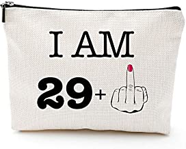 I'm 29+1,30th Birthday Gifts for Women,Boss,Wife,Mother,Daughter Makeup Bag, Milestone Birthday Gift for Her, Presents for Turning Thirty and Fabulous