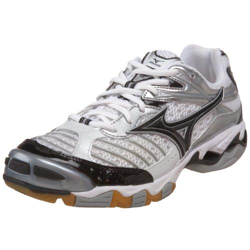 Mizuno Zapato de voleibol Wave Lightning 6 para hombre, Blanco/Negro, 10