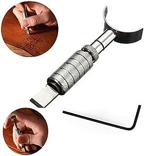 Floratek - Cuchillo giratorio de cuero para tallar y cortar manualidades, herramienta de corte giratoria con cuchilla
