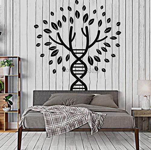Vinyl Baum des Lebens Tattoos zum Basteln, Spirale für Wandaufkleber, große Bäume, Schlafzimmer, Wanddekoration, Pflanze, 56 x 58 cm