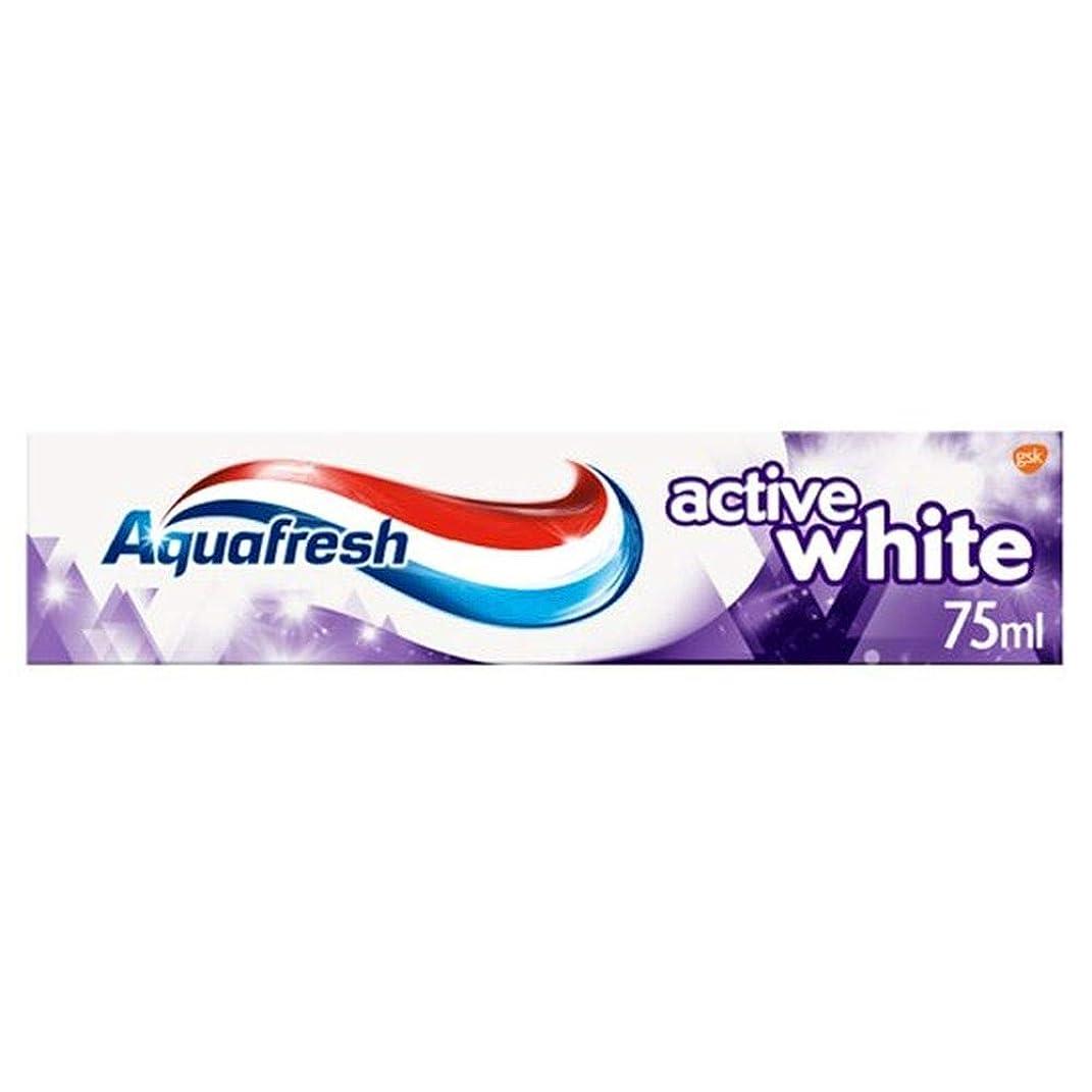 冷ややかな設計バッフル[Aquafresh ] アクアフレッシュアクティブ白歯磨き粉75ミリリットル - Aquafresh Active White Toothpaste 75Ml [並行輸入品]