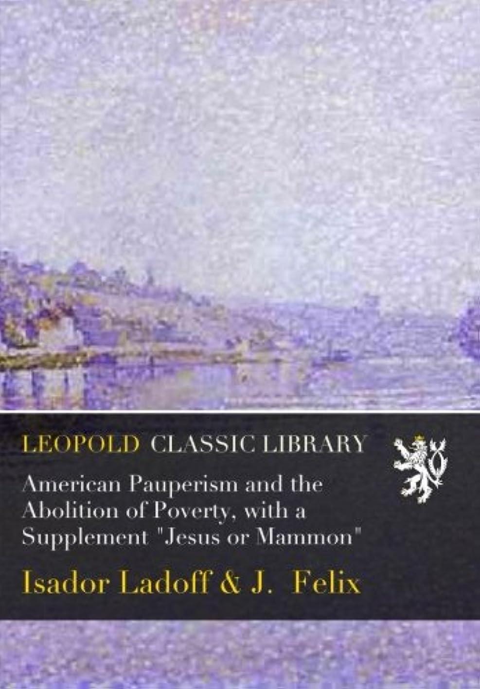おじいちゃん膨らみ方言American Pauperism and the Abolition of Poverty, with a Supplement