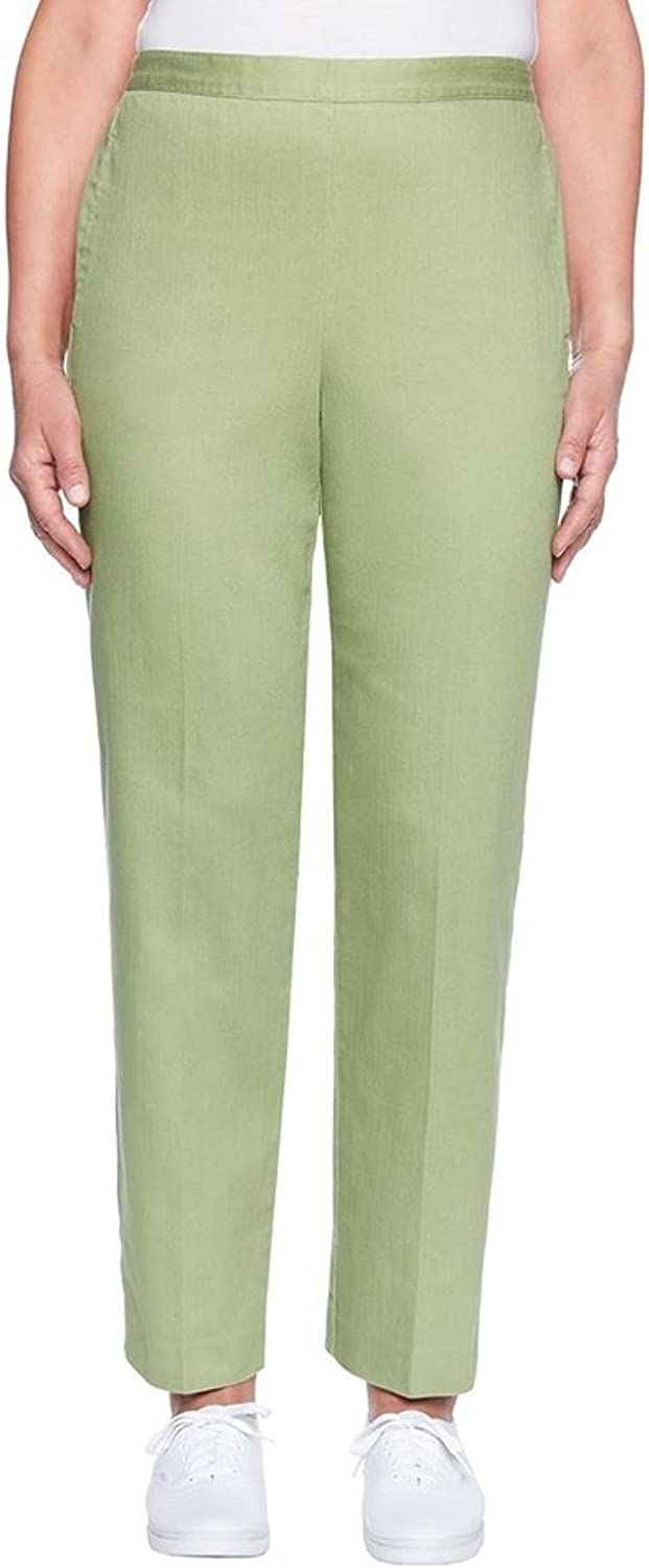 Alfred Dunner Women's Parred Cay Flat Front Denim Proportioned Medium Pant