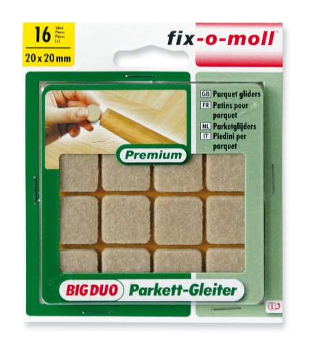 Ritterrath 3566043 Big-Duo Parkettgleiter 20x20mm 16 Stück