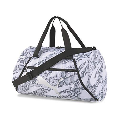 PUMA At ESS Barrel Bag Bolsa Deporte, Mujer, White-Untamed, OSFA