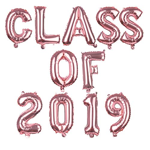 Lemon-Land Prom Party Decor Ceremonie Decor Rose Gold/Gold/Zilver Opblaasbaar Speelgoed Gefeliciteerd Bal Graduation School Decoratie Folie Ballonnen Klasse van 2019 Class of 2019 Rosegoud