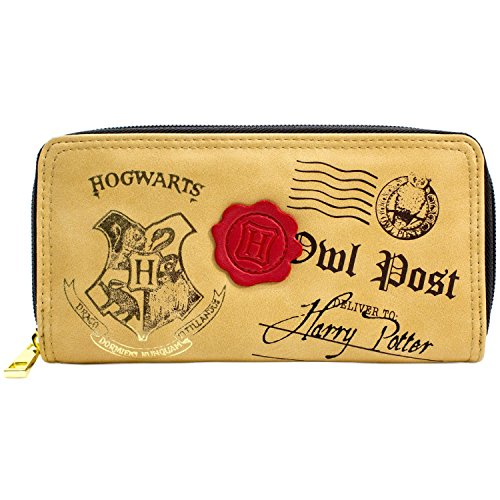 Harry Potter Hogwarts Eule Post Braun Portemonnaie Geldbörse