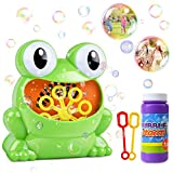 HOMOFY Bubble Machine for Kids Automatic Bubble Maker 500 Bubbles per Minute with Bottle Durable Solution & 2 Hand Bubble Wands Gifts Toys for 2 3 4 5 Year Old Boys/Girls/Kids,Outdoors&Party&Wedding