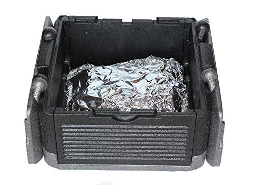 Flip-Box Large Iceless Insulation Box (Grey) - Fits 45 Cans, Collapsible, Lightweight, Portable, Floats– Great for Parties, Picnics, Camping, Beach, Tailgating, Fishing, Hunting, Boating and More!