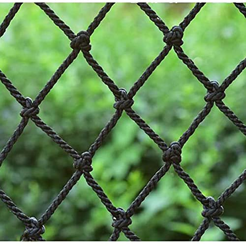 Redes para Balcones, Talla de Rejilla 10 Cm Balcony Netting para Mascotas, Black Balcony Safety Net, para Fiestas de Tema para El Hogar, Hoteles, Casas de Huéspedes(Size:3x3m(10x10ft),Color:Negro)