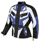 Bangla 1535 Kinder Motorrad Jacke Textilmaterial Cordura 600 Blau-Schwarz-Weiss 152
