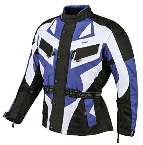 Bangla Motorradjacke Touren Motorrad Jacke Textil Blau 1535_V XL
