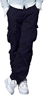 Hashoob Mens Cargo Trousers Multi Pocket Trousers Pants