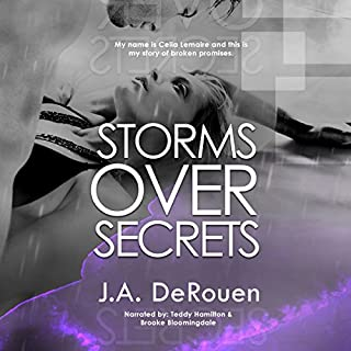 Storms over Secrets audiobook cover art