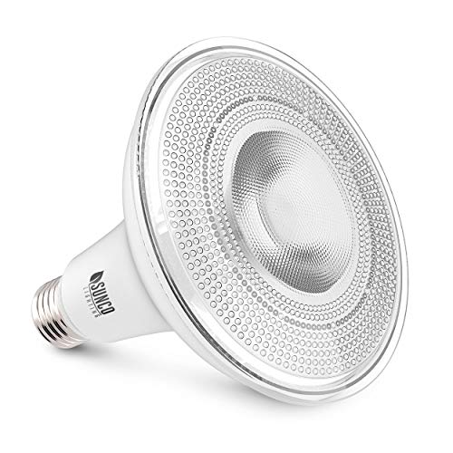Sunco Lighting PAR38 LED Bulb with Dusk to Dawn Photocell Sensor, 15W=120W, 5000K Daylight, 1250 LM, Auto On/Off, Security Spot Light Indoor/Outdoor - UL