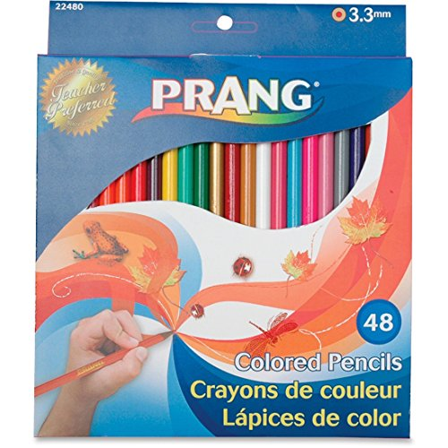 Prang - Colored Woodcase Pencils, 3.3 mm, 48 Assorted Colors/Set