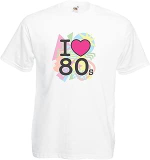 Camisetas Hombre Me encantan los 80, Ropa de la Banda de la Vieja Escuela, Rock and Roll
