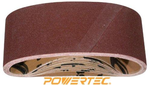 POWERTEC 110810 80 Grit Aluminum Oxide Sanding Belts (Pack of 10), 3