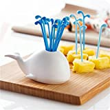 GUAngqi Cute Whale Fruit Cake Salad Forks Home Kitchen Decoration Gadget