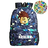 Roblox Kids Mochila Canva Bright Kids Mochila Daypack-Roblox School Bookbag Mochilas para...