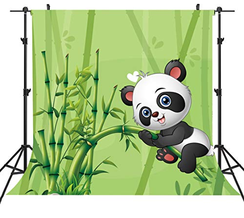 STS 6X6FT Cartoon Panda Background Baby Panda Playing in Bamboo Forest Photography Backdrop Baby Shower Kids Room Decor Zoo Poster Birthday Banner LYST579