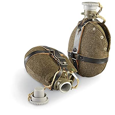 Czech Military Army Surplus M60 Aluminum Canteen Water Bottle Flask and Cover