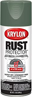 Krylon K06903007 Rust Protector and Preventative Enamels, Satin 12 Ounce Moss Green