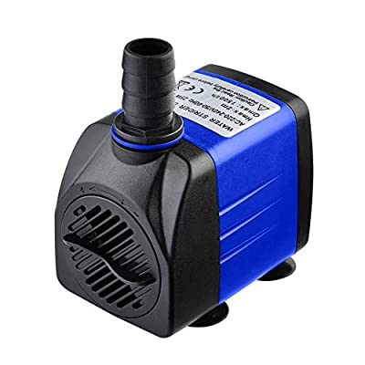 Yunt Pompe Submersible pour Aquarium 25 W IP68 Pompe à Eau Réservoir de Poissons 1500L/H